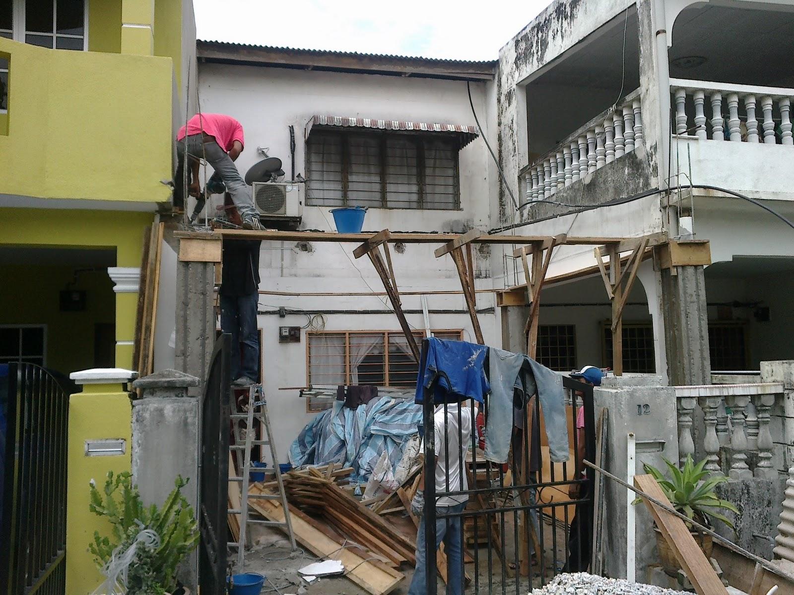 Penambahan Bahagian Depan Dan Atas Rumah Teres 2 Tingkat Di Batu 3 Shah Alam