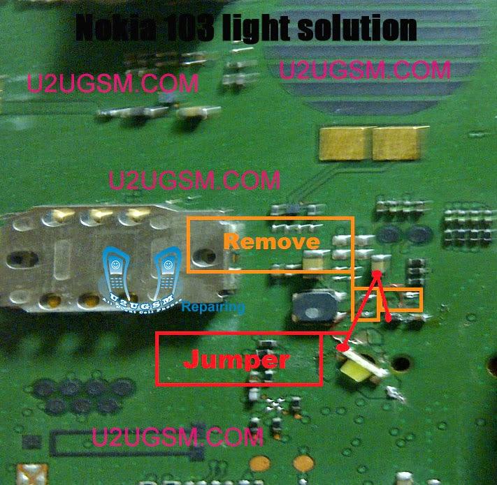 Nokia 103 Lcd Light Problem Solution Diagram | gsmfixer