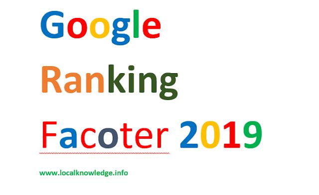 Top 10 website Ranking Factors,Seo guide 2019