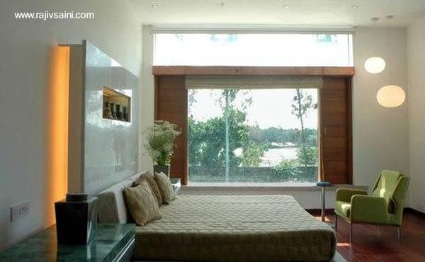 Interior de una moderna casa en la India