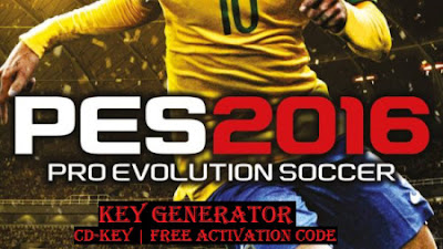 Here you can get free PES 16 game activation code