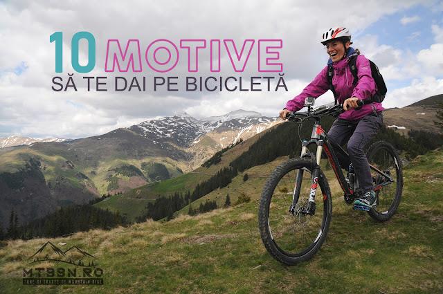 10 motive să te dai cu bicicleta
