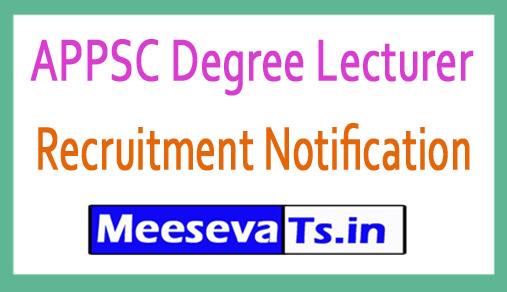 APPSC Degree Lecturer Recruitment