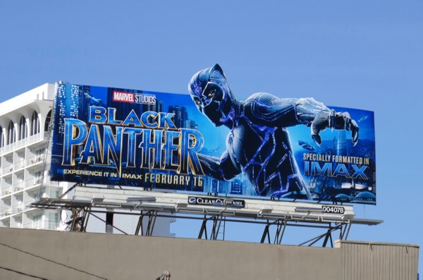 Black Panther extension cut-out billboard
