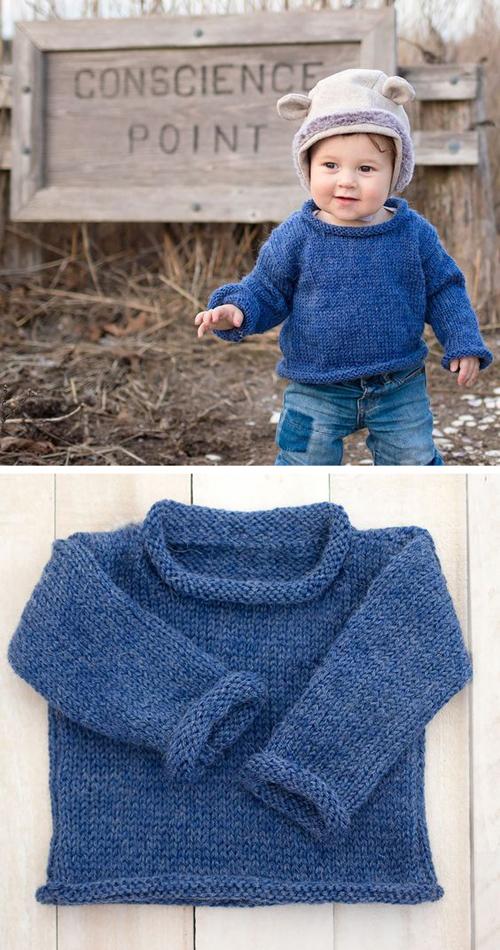 Easy Baby Sweater - Free Knitting Pattern