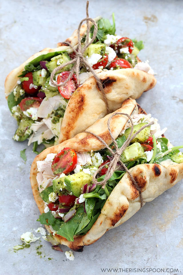 Easy 20-Minute Meal: Chicken Wraps with Hummus, Goat Cheese & Chimichurri Sauce