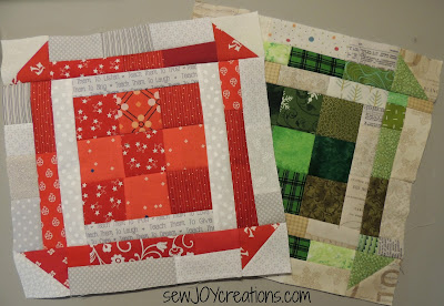 scrappy 9 churn dash block scrap patchwork