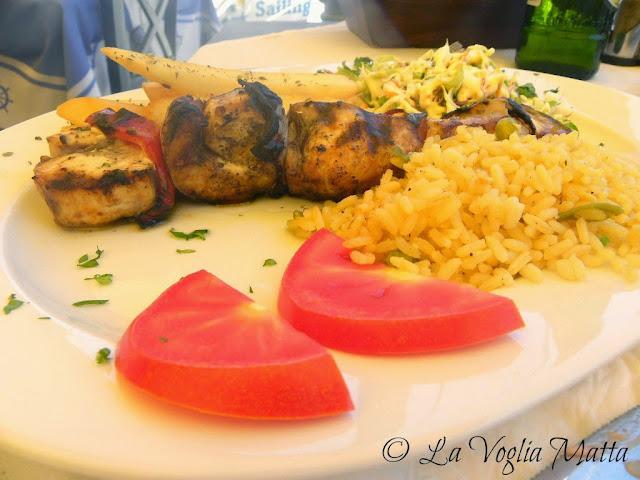 Cefalonia Fiskardo ristorante Lagoudera souvlaki