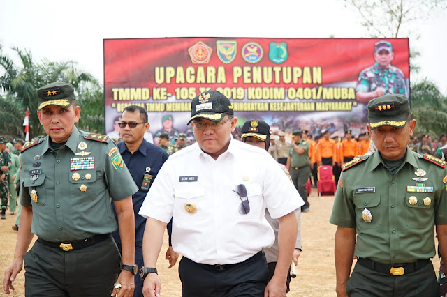 TMMD ke 105 di Muba Resmi Ditutup Pangdam II/Sriwijaya