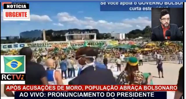 URGENTE!! MILHARES DE PESSOAS SE REÚNEM EM FRENTE AO PALÁCIO DO ...