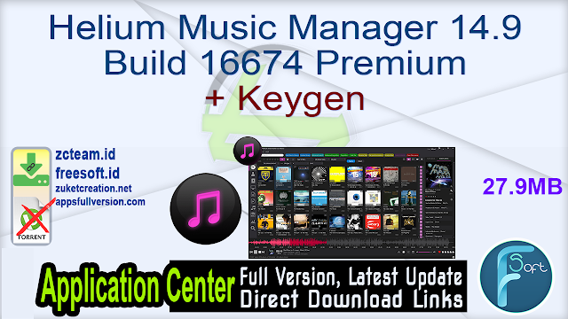 Helium Music Manager 14.9 Build 16674 Premium + Keygen