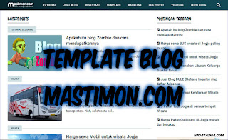 Riview Template Blog Mastimon