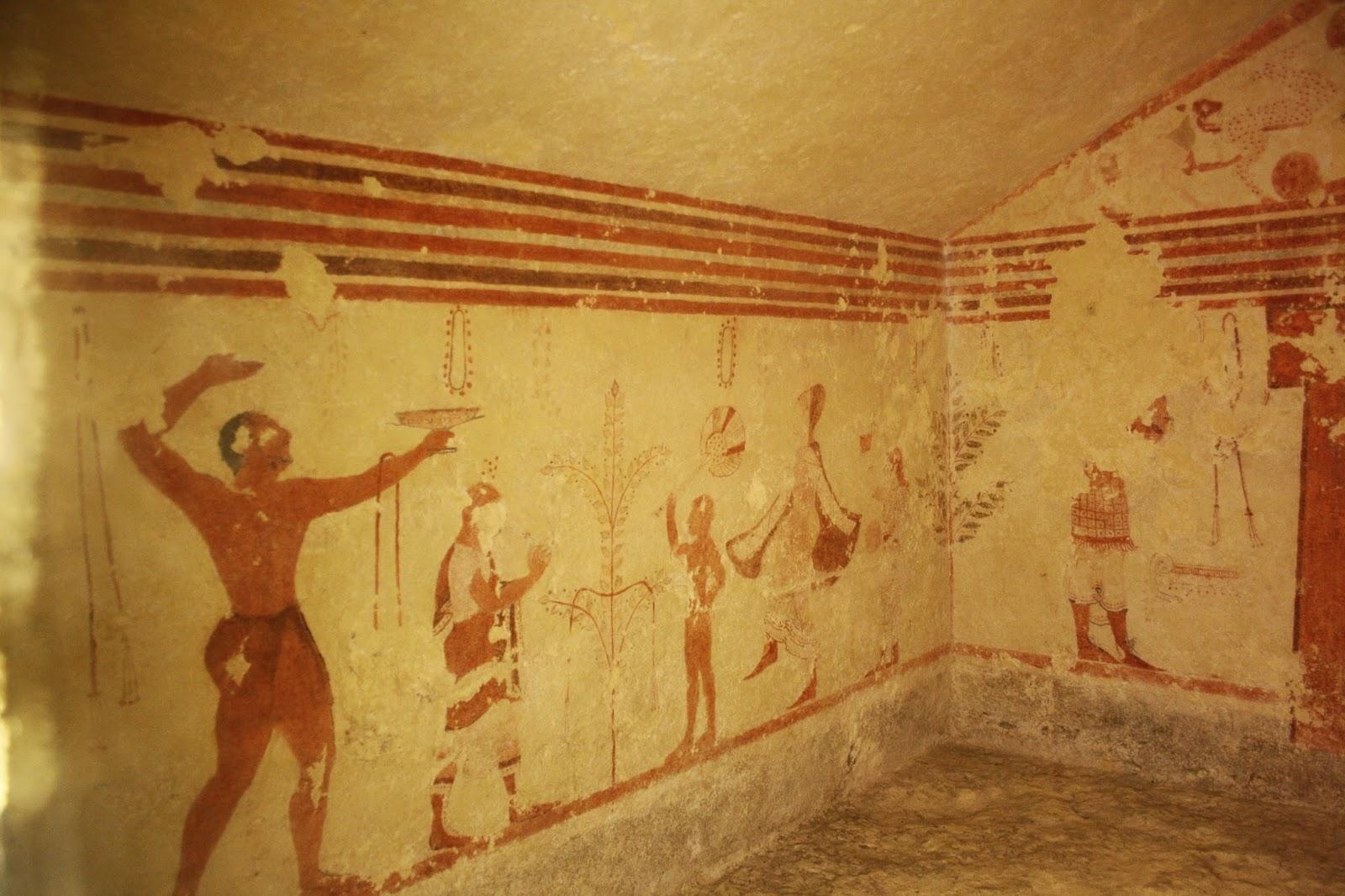 Pinturas tumba Necrópolis etrusca de Tarquinia