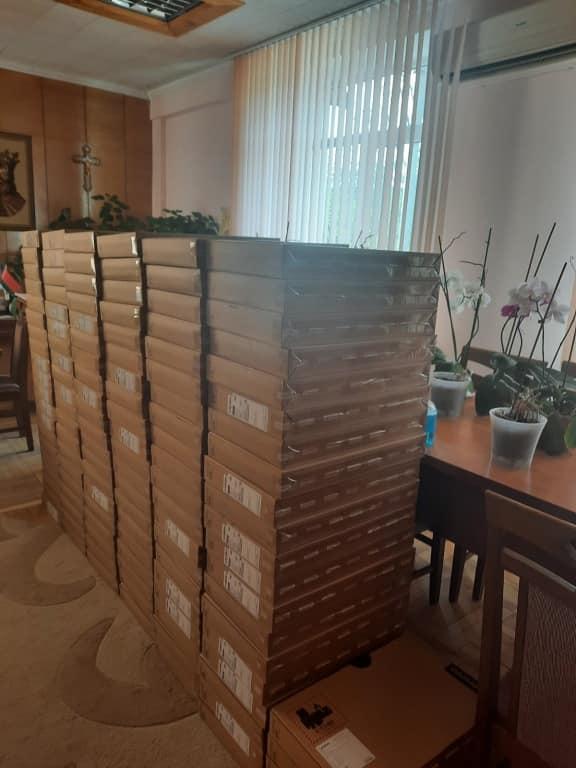 """Consiliul Raional Leova a recepționat un lot de 274 laptopuri din partea Ministerului Educației, Culturii și Cercetării, în cadrul Proiectului """"Reforma Învățământului în Moldova"""""""