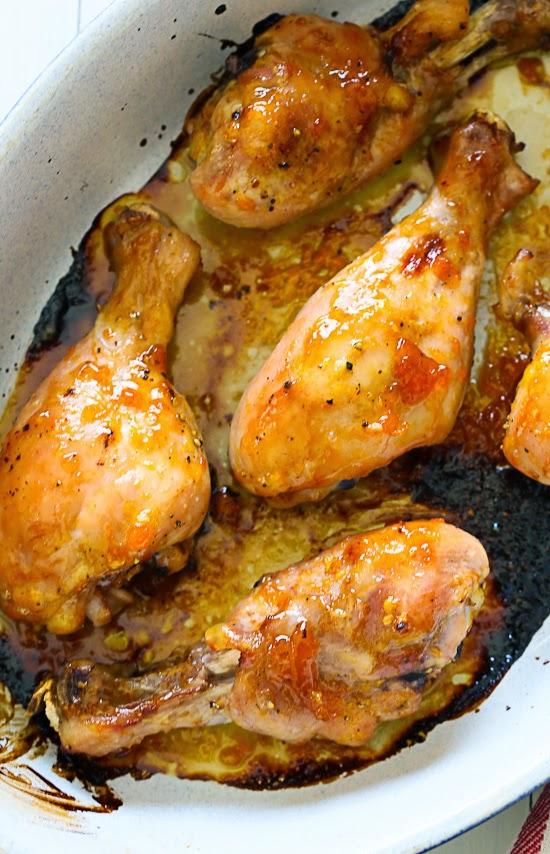 Sticky Baked Chicken With Apricot Sage And Lemon Zest Skinnytaste
