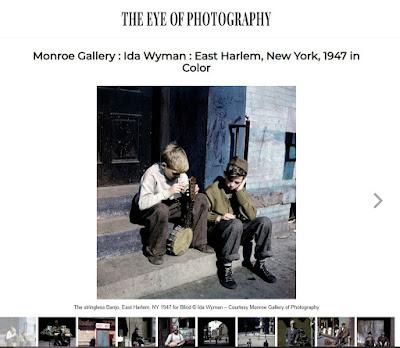 screen shot of Ida Wyman exhibit feature on L'Oeil de la Photography website