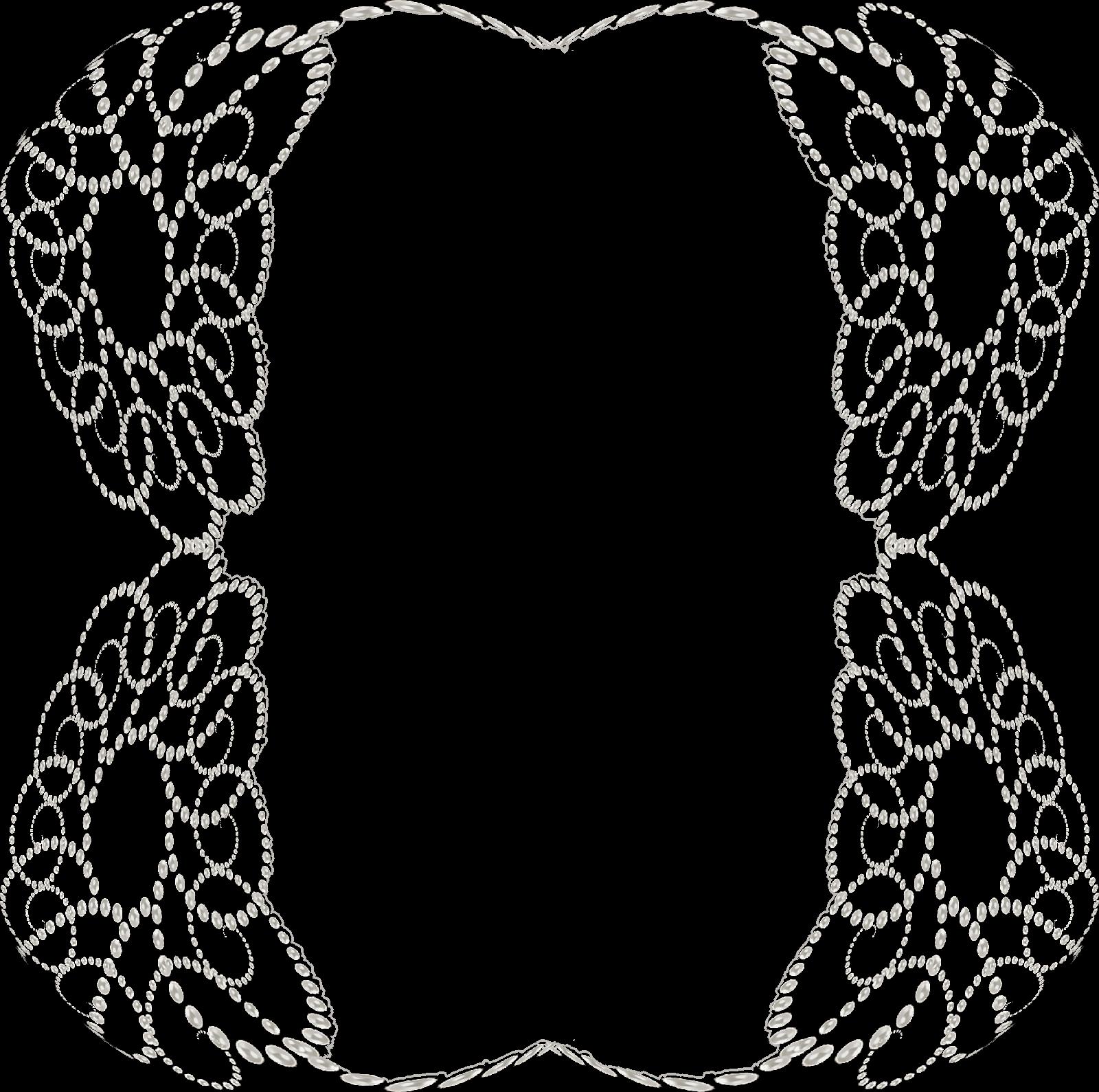 Emilieta psp: Marcos de perlas opacos y semitransparente formato PNG