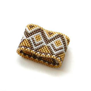 купить кольцо из бисера украшения ручной работы россия