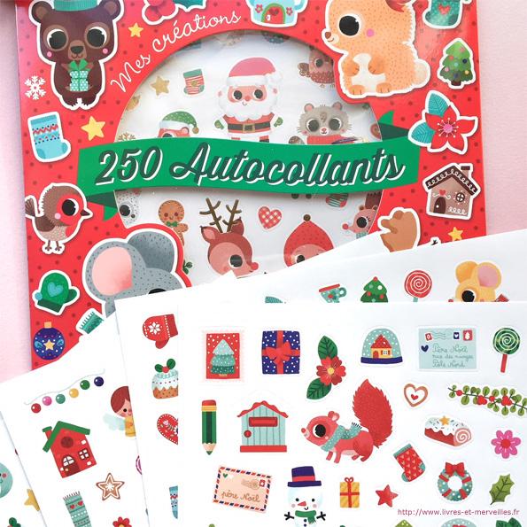 Coloriages et autocollants de Noël - Gründ jeunesse