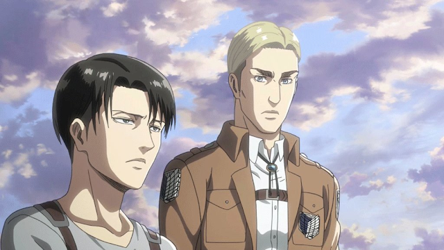 Levi and Erwin from the Attack On Titan movie back story
