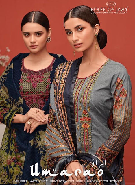 House Of Lawn Umarao  Salwar Kameez Collection Wholesale At Diwan Fashion Surat