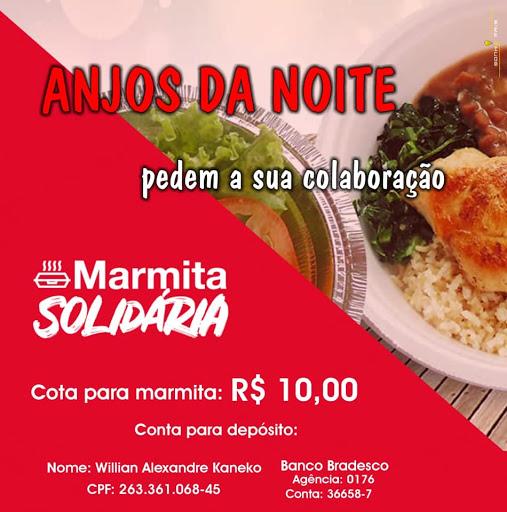"""Grupo Anjos da Noite faz ação de arrecadação """"Marmita Solidária"""" em Registro-SP"""