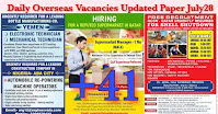 Daily Overseas Vacancies Updated Paper July28