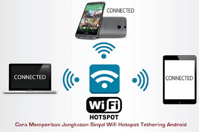 Cara Memperluas Jangkauan Sinyal Wifi Hotspot Tethering Android