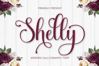 Shelly Script And Handwritten Font