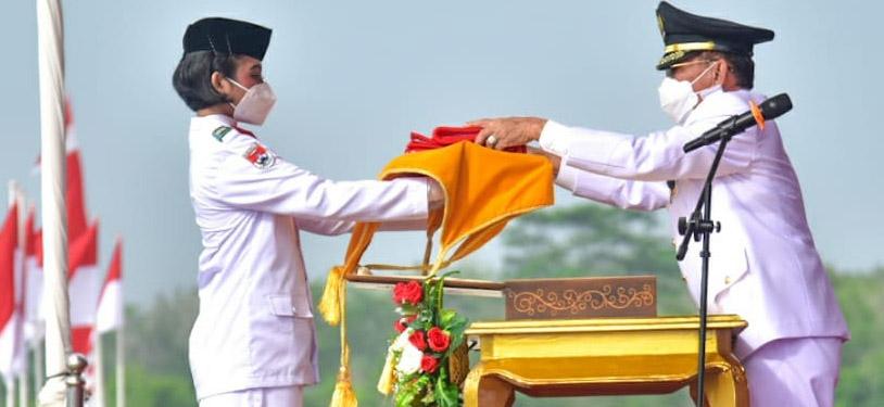 Meski Terbatas, Upacara Peringatan Ulang Tahun Ke-76 RI di Mesuji Berjalan Khidmat