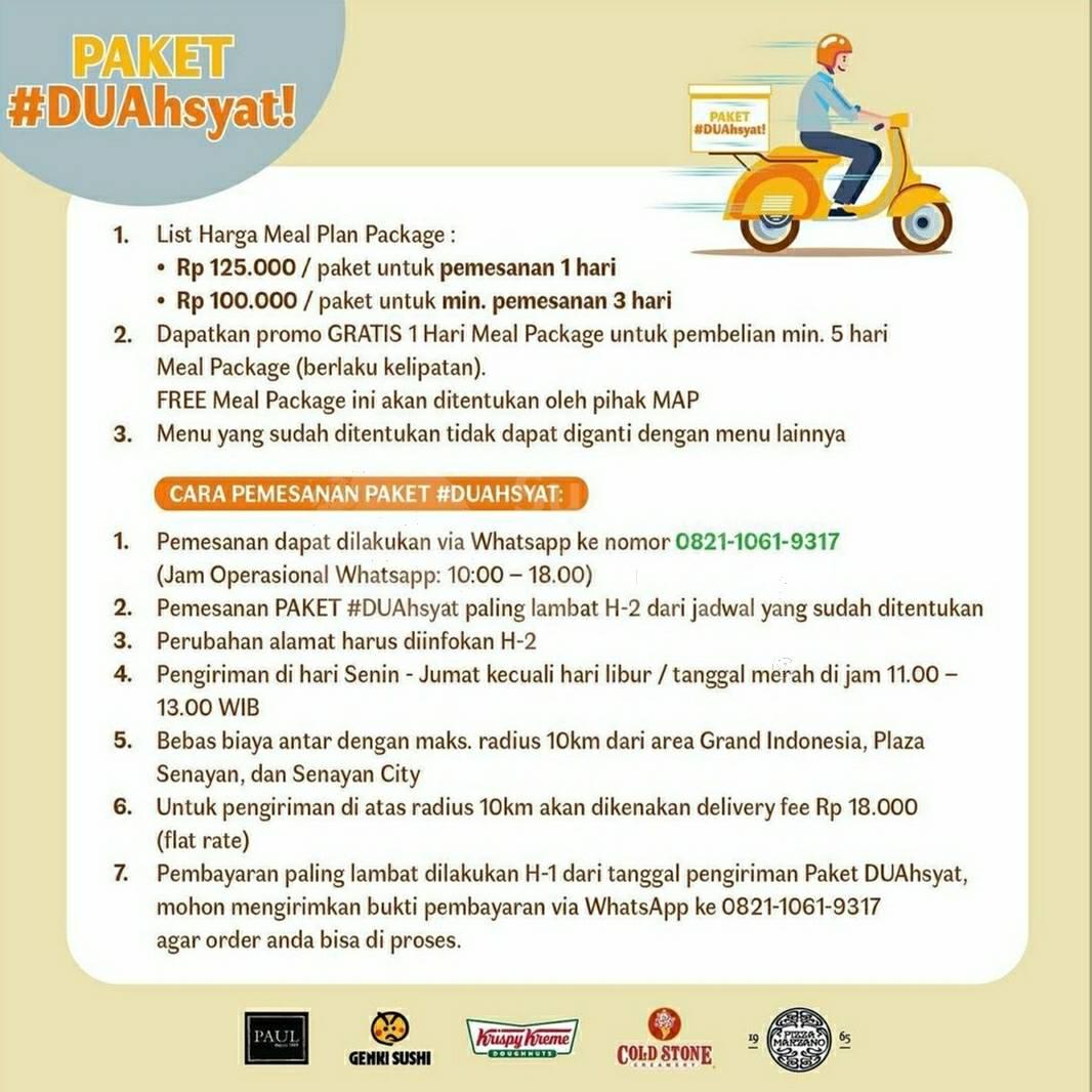 Promo Paket DUAHSYAT (KRISPY KREME + GENKI SUSHI + COLDSTONE + PIZZA MARZANO + PAUL) hanya Rp.100.000 4