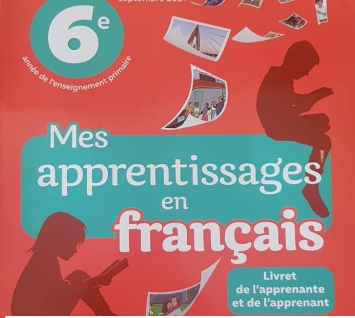 دليل الأستاذ في اللغة الفرنسية المستوى السادس Mes apprentissges en français النسخة المحينة 2021