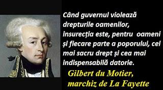 Maxima zilei: 6 septembrie - Gilbert du Motier, marchiz de La Fayette