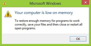 Cara cepat dan Mudah Mengatasi Your Computer Is Low on Memory