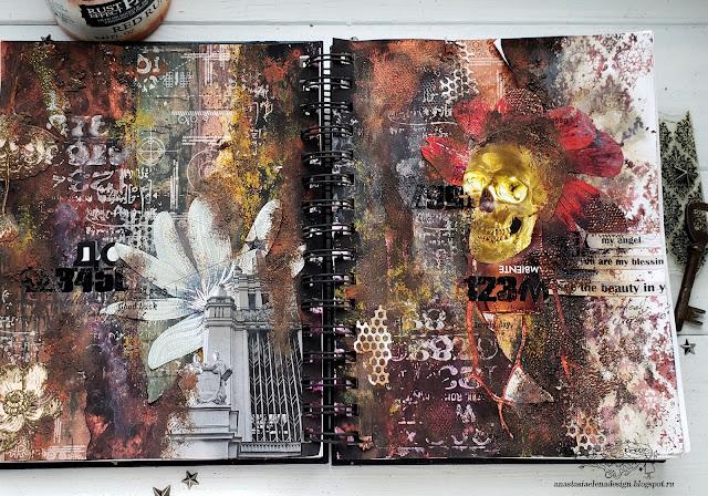 @nastyalena #artjournal #mixedmedia #collage