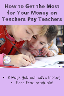 Would you like some free resources from Teachers Pay Teachers? With the first tip in this blog post, you can earn some! This blog post contains three tips and tricks (and a bonus tip) to getting the most for your money on Teachers Pay Teachers! This will save you money and give you time to focus on your students! #confessionsofafrazzledteacher #teachers #teacherspayteachers {Kindergarten, First, Second, Third, Fourth, and Fifth Grade Educators}