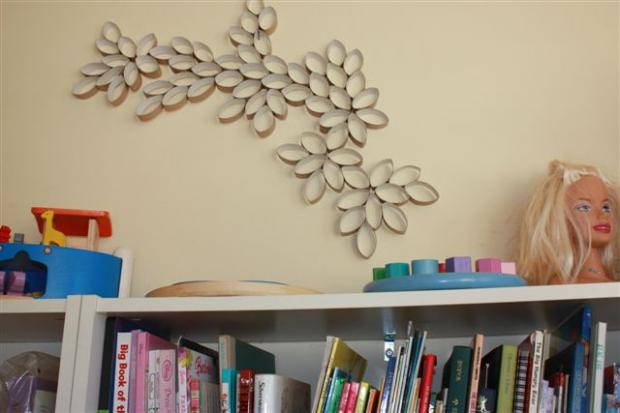 rolos de papel na decoração