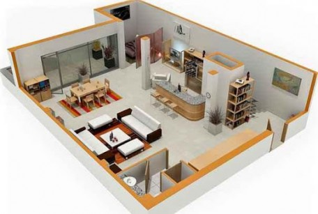 complete-3d-house-designs-with-sliding-glass-doors-and-apartment-like-decoration