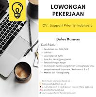 Lowongan Kerja di CV. Support Priority Indonesia Sidoarjo Januari 2021