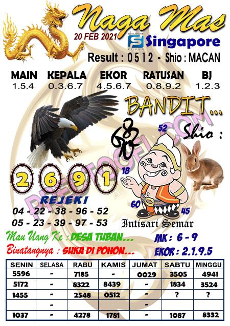 Syair Sgp Nagamas Sabtu 20 Februari 2021