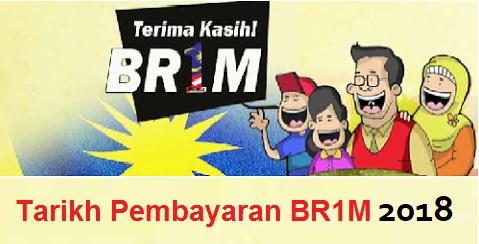 Jadual Pembayaran BR1M 2018 Bantuan Rakyat 1Malaysia