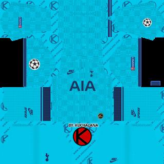Tottenham Hotspur 2019/2020 champions league Kit - Dream League Soccer Kits