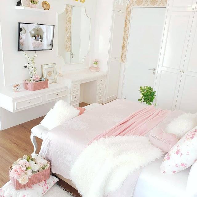 Desain Kamar Tidur Remaja Perempuan Mewah