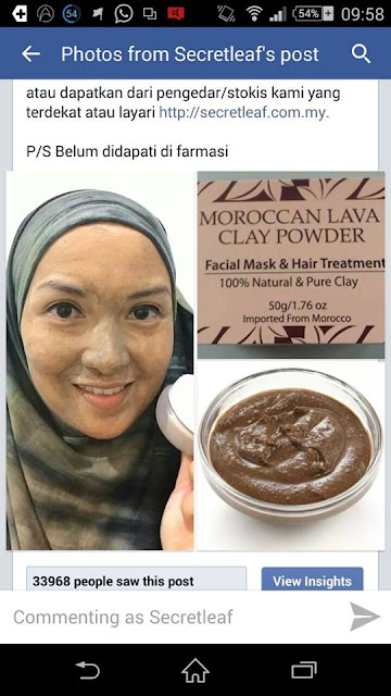 moroccan lava clay powder
