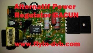 Cara mengganti power suplay regulator dengan gacun