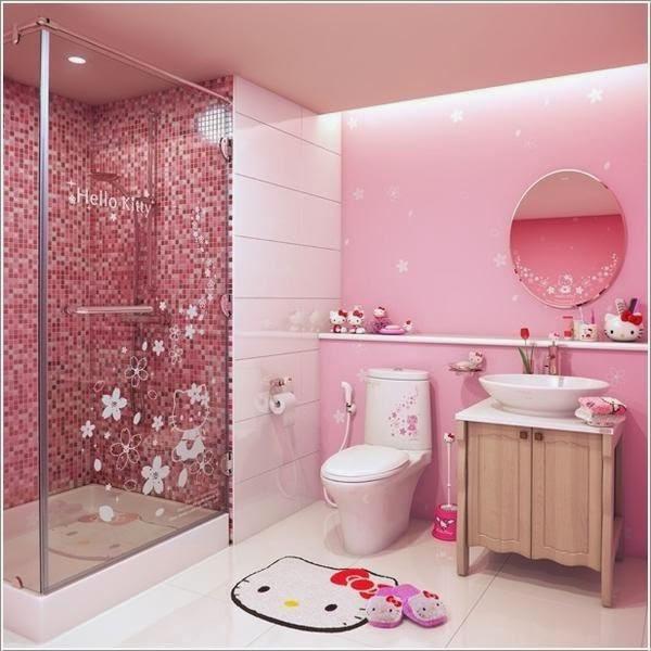 Kamar mandi kecil yang unik yang nyaman