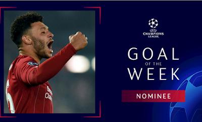 ترشيح أوكسيلد-تشامبرلين للفوز بجائزة هدف الأسبوع في دوري أبطال أوروبا