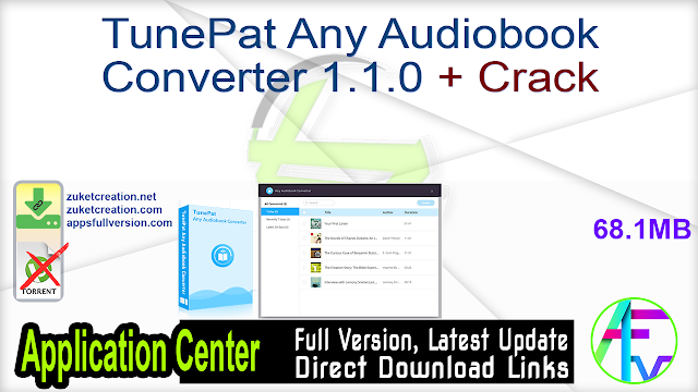 TunePat Any Audiobook Converter 1.1.0 + Crack