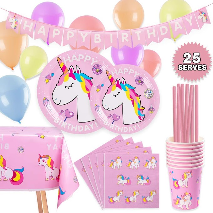 60%OFF Unicorn Party Supplies