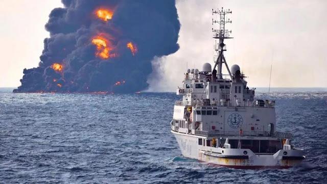 """Eu não duvido que os EUA """"deliberadamente tenham afundado"""" o petroleiro iraniano, que provavelmente estava contrabandeando petróleo para a Coreia do Norte."""